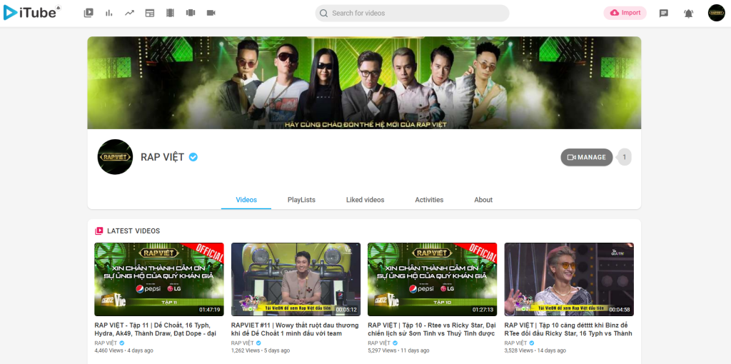 Hướng dẫn tạo kênh video Youtube trên iTube